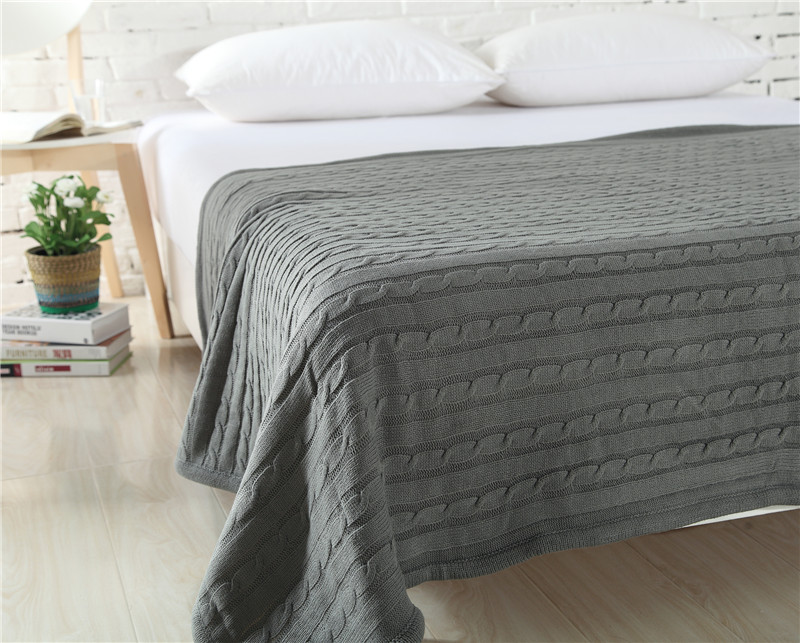 winter weighted fleece deken blanket for bed adult sofa blankets chunky knit Bedspread solid soft fluffy throw in Blankets from Home Garden
