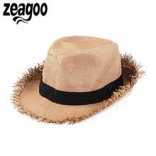 Ninguno sombrero tejido Unisex ajustable del casquillo del sol sombrero de  paja(China) 2b33dec1947