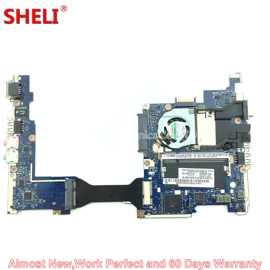 SHELI MBSDF02001 MB.SDF02.001 Laptop Motherboard For Acer Aspire One D255 D255E LT25 Netbook PAV70 LA-6221P N450 1.66GHz da0ze6mb6e0 for acer aspire one d257 motherboard mbsfv06002 atom 1 6ghz grade a sheli store 60days warranty