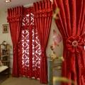 Роскошные итальянские шерстяные шторы на заказ, красные занавески для гостиной, радостная свадьба, экологически чистые флокированные ткан...