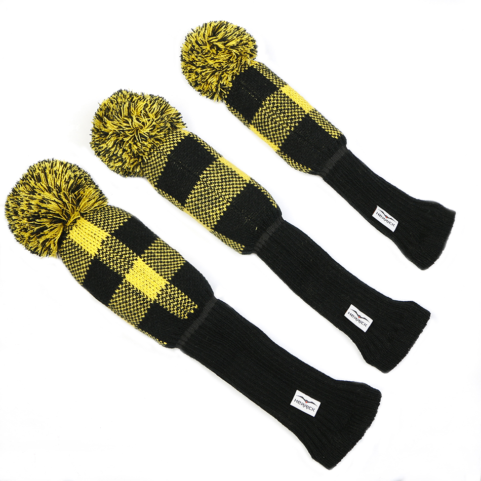 Image 4 - Golf Clubs headcovers Knitting wool Clubs covers  Golf Accessories 1set  free shipping-in Golf Clubs from Sports & Entertainment