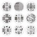 1 unids 30 diseños para Elegir 5.5 cm Stamping Nail Art Plantillas de Moda Flor/Arco/Vid de La Imagen Del Clavo plantillas Placas STZA01-30