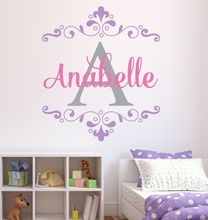 Girl Custom Name Wall Sticker Personalized Name Vinyl Wall Decal Home Bedroom Decoration Kids Room Design Wall Art Mural AY0110 цены