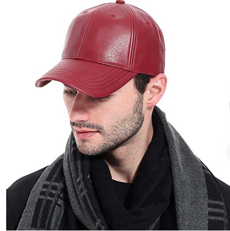 402dc654176a3 Wholesale 3pcs Mens Brand PU Baseball Caps Fashion Solid Black Faux Leather  Ball Cap for Men NEW Grey Strapback Baseball Hat-in Baseball Caps from  Apparel ...