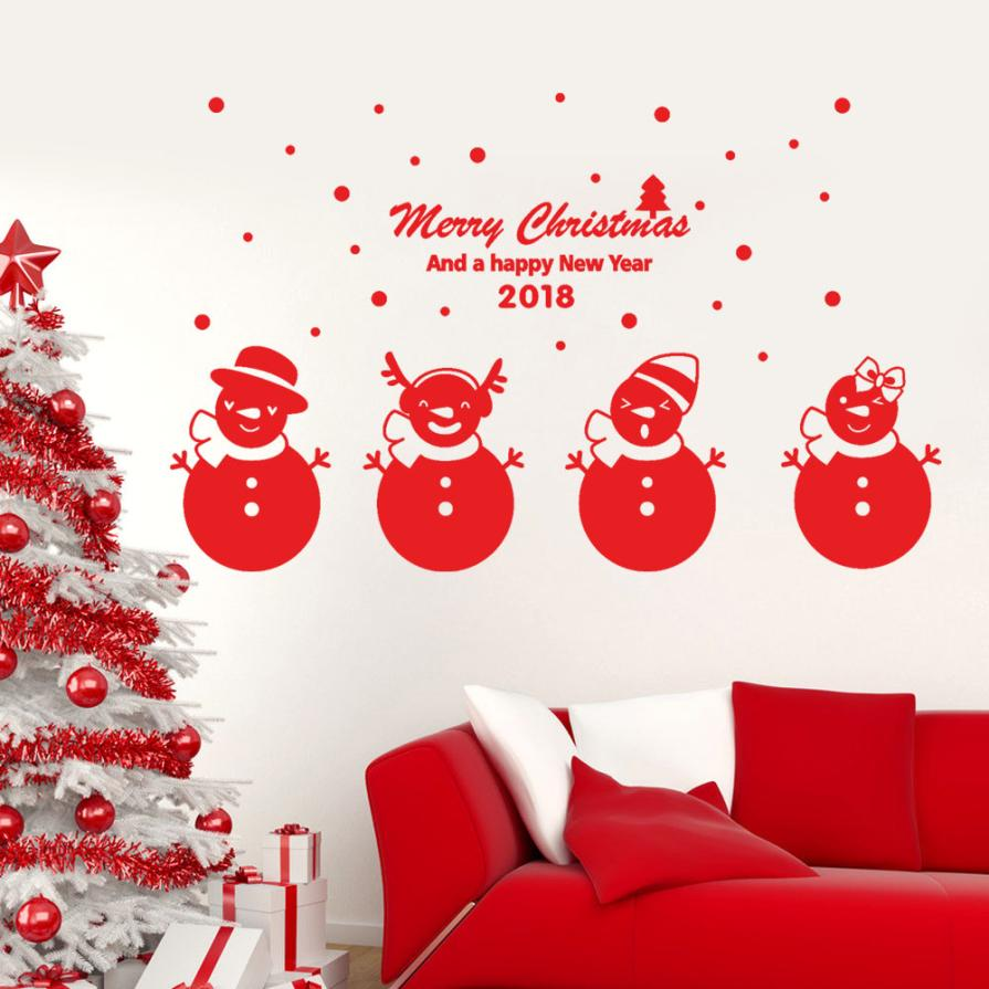 2018 happy new year merry christmas wall sticker home shop windows 2018 happy new year merry christmas wall sticker home shop windows wall stickers home decor living room bathroom pye5 in underwear from mother kids on amipublicfo Gallery