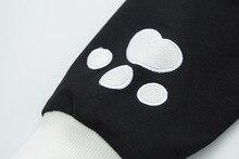 Cute Cat Pattern Printed Long Sleeve Hoodie