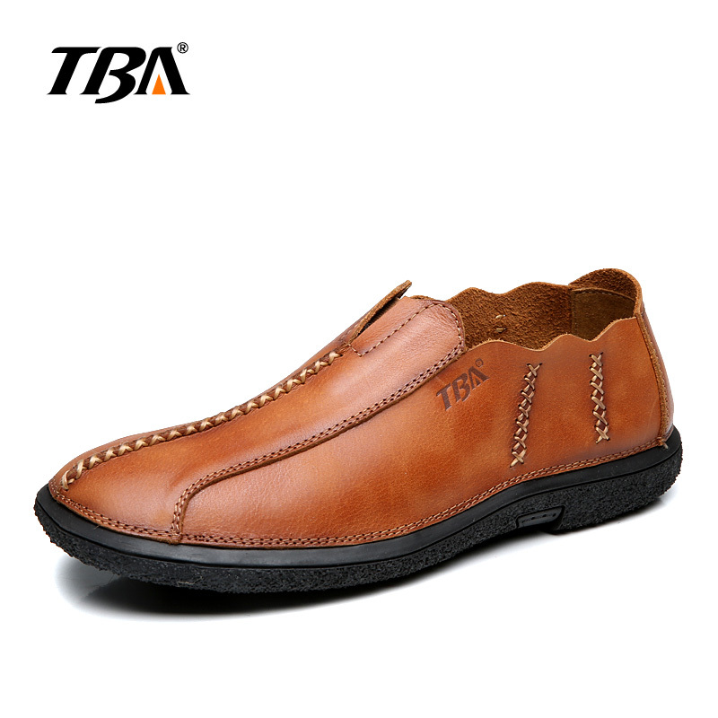 TBA 6866#  Man Moccasin Breathable Men's Loafers Designer Flat Soft Leather Shoes Fashion Boat Shoes Luxury Brand Running shoes high quality genuine leather loafers men breathable casual shoes soft men flats fashion boat shoes lazy loafers man moccasin 2 5