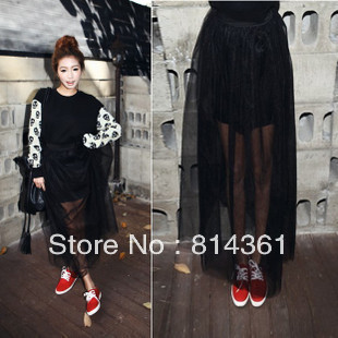 free shipping ac8b5 0d5a5 Best Selling!!Summer perspective veil lace chiffon skirts ...