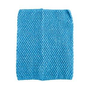 Вязаный топ-труба 9x10 дюймов, топ-пачка для маленьких девочек, вязаная юбка-американка топ-пачка, вязаная крючком повязка на голову, смешанные цвета, 10 шт. в партии - Цвет: Turquoise 10pcs