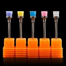 "5Pcs/Set Pro Nail Drill Brush Electric 3/32"" Machine Files Nail Art Drill Bit Cleaning Nail Accessories Manicure Tools"