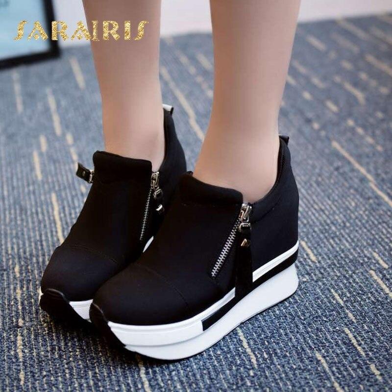 f5ef3a330 SaraIris/Новинка; Лидер продаж; модная обувь на платформе с круглым носком  и застежкой-молнией; сезон весна-осень; женские кроссовки; Размеры 35-40