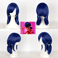 Miraculous Ladybug Marinette Cosplay Wig Blue Black Mix Styled Halloween Party Wigs