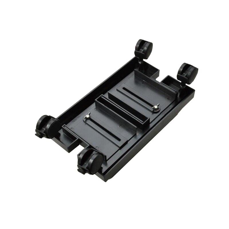 Cases de Computador Preto Universal Stents Torres Chassi Anfitrião Suporte Ajustável Grande Móvel Abs Plástico Polia Case Slide h