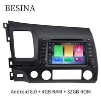 Besina 7 Inch Android 8 0 Car DVD Player For Honda Civic 2006 2012 Multimedia GPS