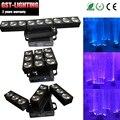 2 шт./лот матрица деформации 9X10W RGBW Quad цвет CREE LED 1-12 раз/сек сценическое освещение