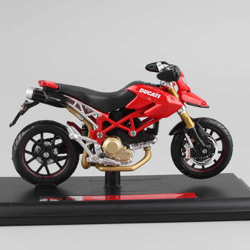 Maisto 1/18 Skala Mini Ducati Hypermotard 1100S Sepeda Motor Balap Sepeda Motor Diecasts & Kendaraan Mainan Model Mainan untuk Miniatur
