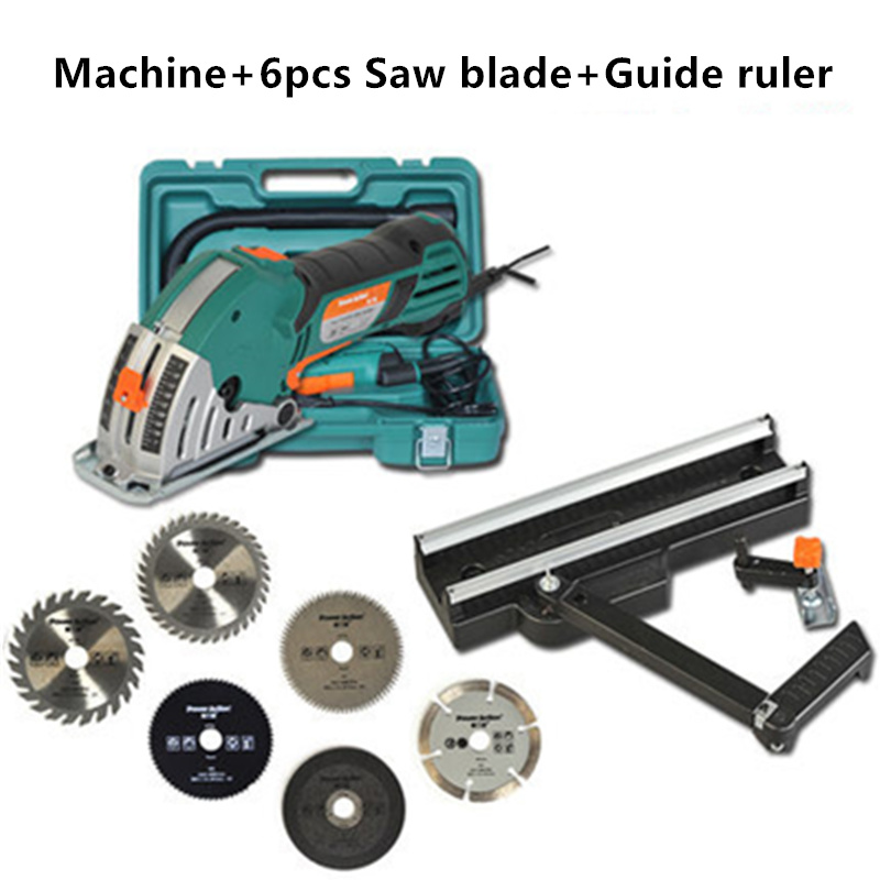 500W Woodworking Power Tools Metal Tile Mini Cutting Machine Rails Circular Saw Household Small Chainsaw Set