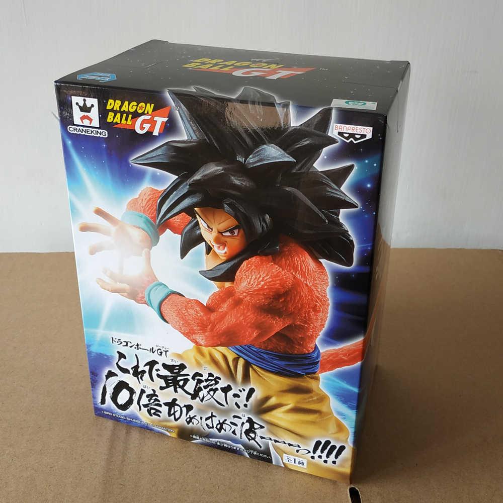 """100% оригинал Banpresto Коллекционная Фигурка-Super Saiyan 4 Son Goku Ten Times Kamehameha из """"Жемчуг дракона gt"""""""