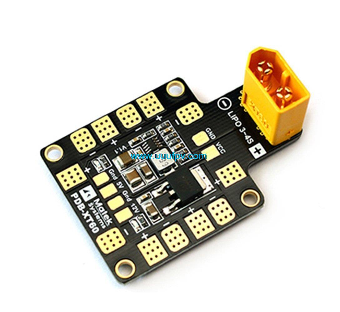 Matek Systems PDB XT60 with BEC 5V & 12V 2oz Copper For RC Quadcopter Muliticopter Drone Toys FPV Multicopter original matek mini power hub pdb xt60 power distribution board pdb xt60 with bec 5v 12v for fpv drone quadcopter qav210 qav180