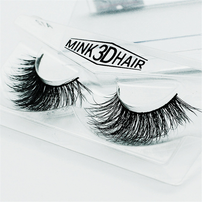 1 pair Handmade 3D Mink eyelash Thick Crossing lashes Natural False Eyelashes for Beauty Makeup
