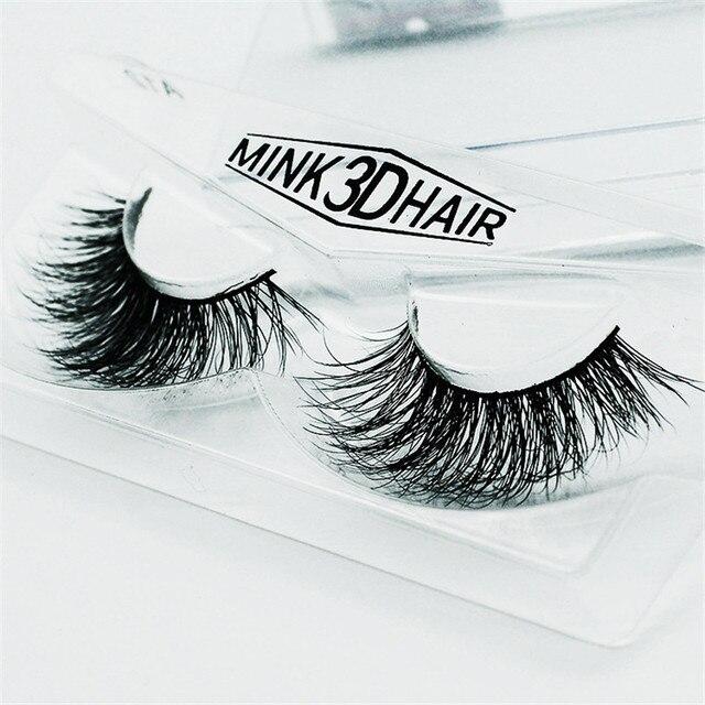 1 pair Handmade 3D Mink eyelash Thick Crossing lashes Natural False Eyelashes for Beauty Makeup
