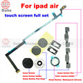 6 em 1 tela de toque conjunto completo de peças para ipad air 5 cabo flex botão home partes internas