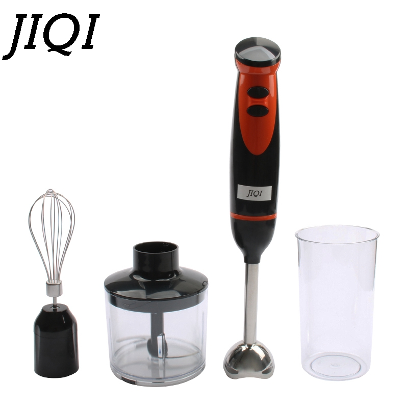 JIQI Handheld Blender Mini Stir Food Processor Chopper Whisk Egg Beater Fruit Electric Fruit Juicer Milkshake Mixer Meat Grinder