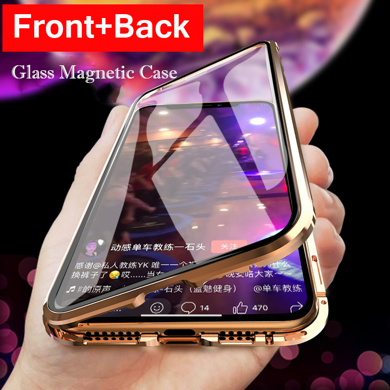 360 Full Cover Magnetic Phone Case For iPhone XS MAX XR XS 8 8 Plus Aluminum