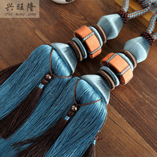 XWL New 1Pair Curtain Hanging Belts Fringe Window Curtain Accessories Strap Tassel Tiebacks Buckle Home Decoration Hanging Ropes