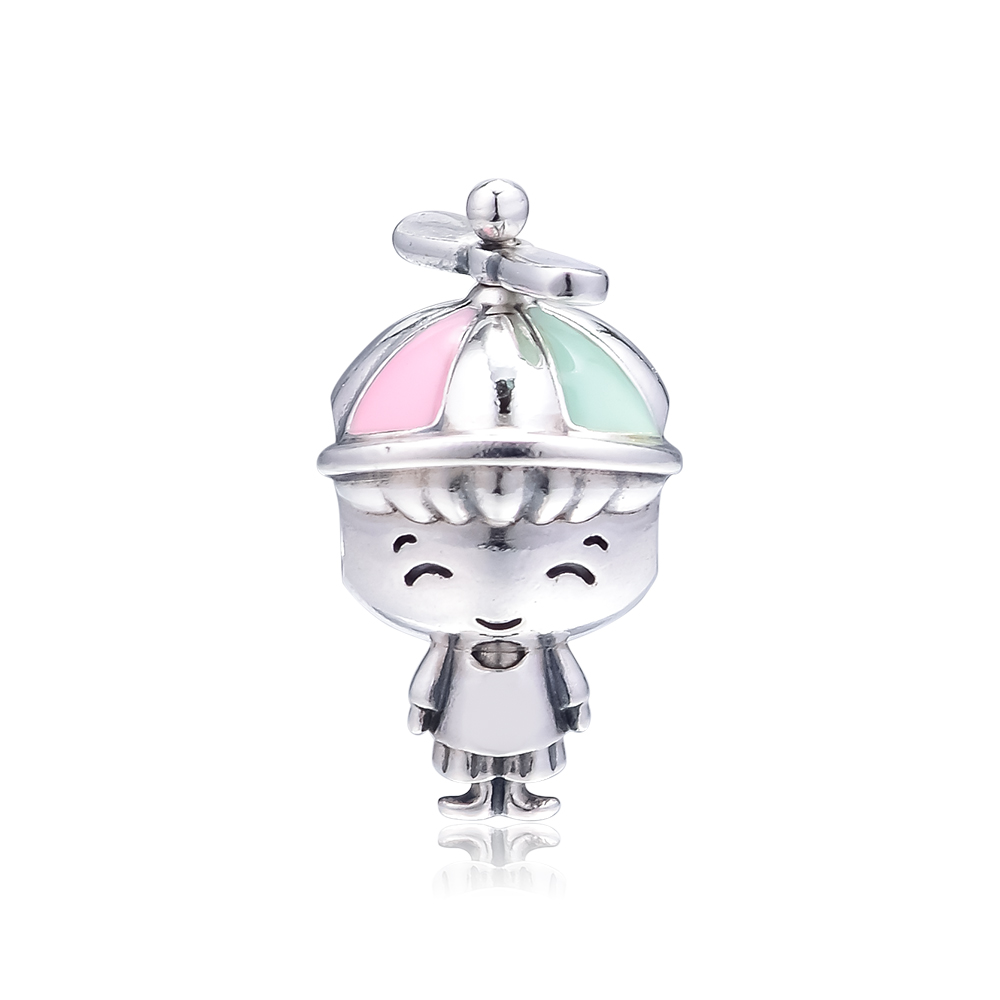 Fits Pandora Bracelet Original Charms 925 Sterling Silver Propeller Hat Boy Charm Beads for Jewelry Making kralen perles boncuk in Beads from Jewelry Accessories