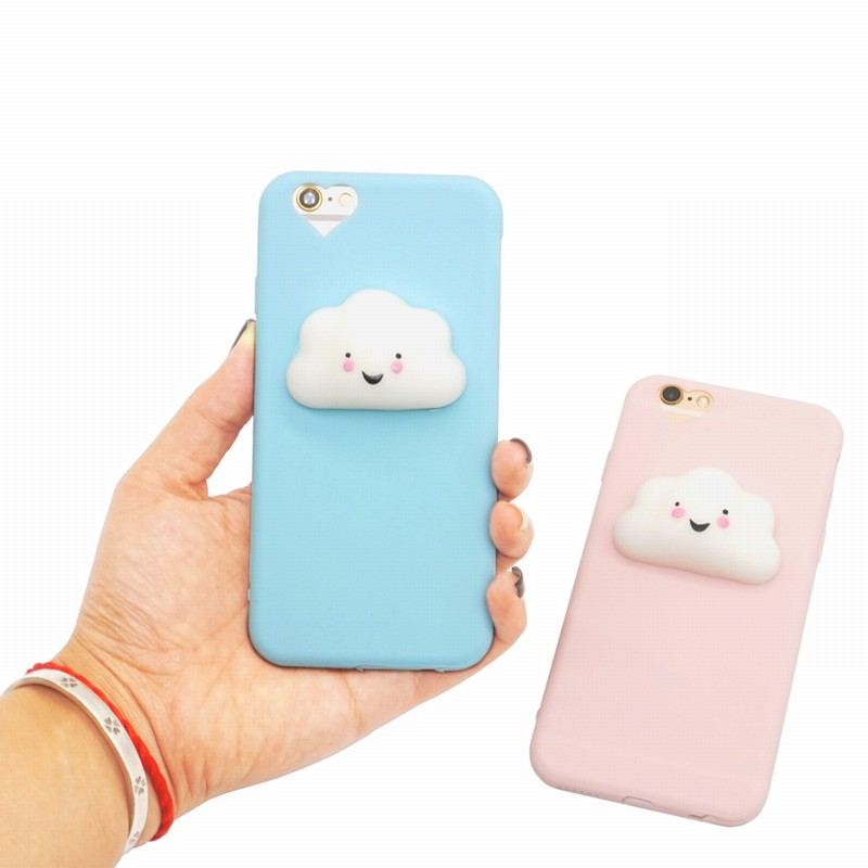 Portefeuille Silicon Case for iPhone 5 S 5S SE 3D Squishy Phone Case Cloud Matte Soft Love Heart Cover For iPhone5 S Accessories