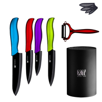 Ceramic Knife Set 3 4 5 6 Paring Utility Slicing Chef Knife A Red Peeler With