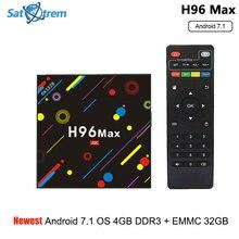 4GB DDR3 32GB eMMC Smart TV Box Android 7.1 RK3328 Quad Core WiFi Bluetooth 4K Kodi 17.3 Streaming box TV Receiver Media Player