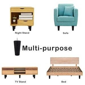 Image 4 - 4 Uds. Patas de sofá de plástico de 80mm de altura, patas de sofá de plástico negro