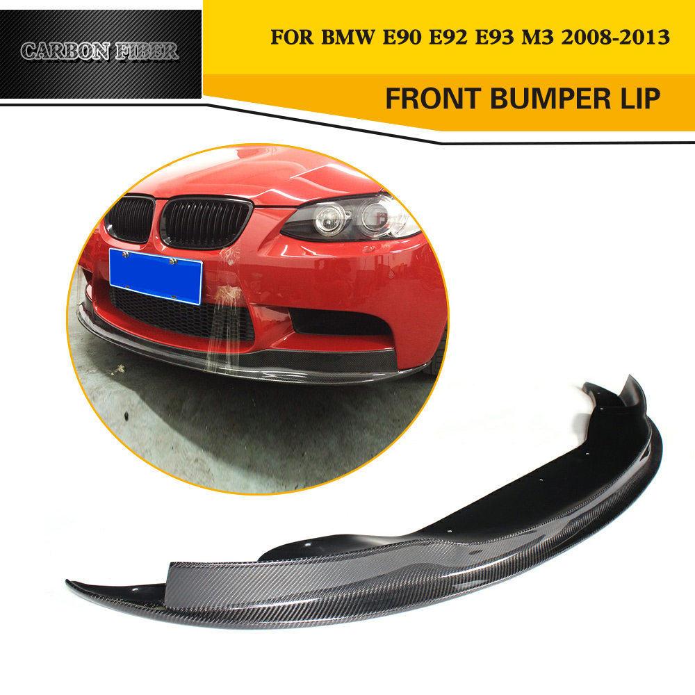 3 Series M3 A Styling Carbon Fiber Auto Car Front Lip Spoiler For BMW E90 E92 E93 M3 Bumper Only 2008-2013