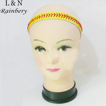 Gum For Sport Hair Jewelry Seamed Lace Leather Headband Herringbone Softball Fast Pitch Baseball Stitch Hair Jewelry