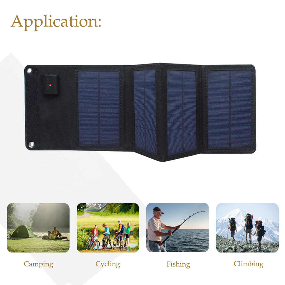 Boguang 5 فولت 8 واط المحمولة شاحن بالطاقة الشمسية نظام لوحة شمسية قابلة للطي شاحن قوة البنك ل USB في الهواء الطلق شحن الهاتف المحمول