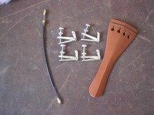 5 Stücke Jujube holz Violine schwanzstück 4/4 mit Fine tuner & schwanz eingeweide