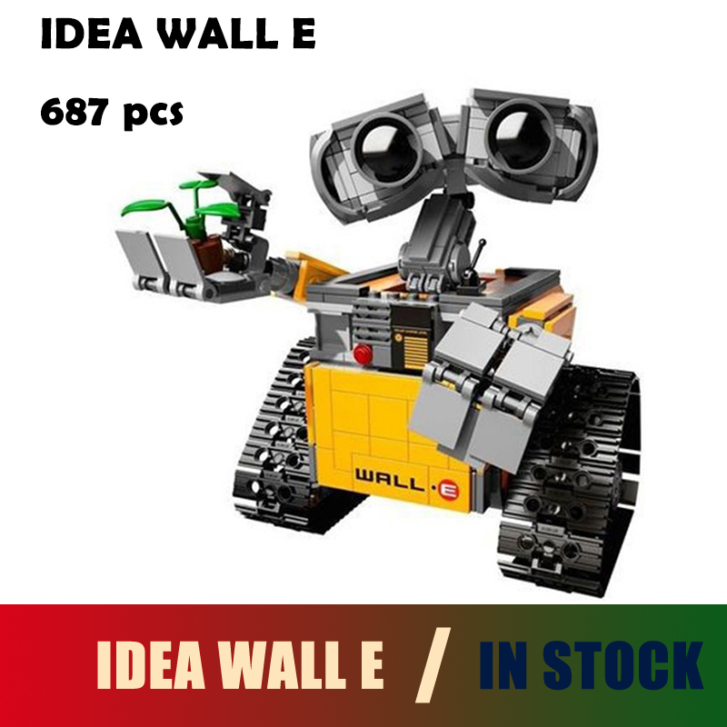 Compatible with lego Building Blocks Model 16003 IDEA WALL E 21303 Figure Educational Toy for Children Gift for Boy Girl oenux wrestlemania wrestling weightlifting gym model the wrestler athlete figure building blocks bricks toy for boy s gift