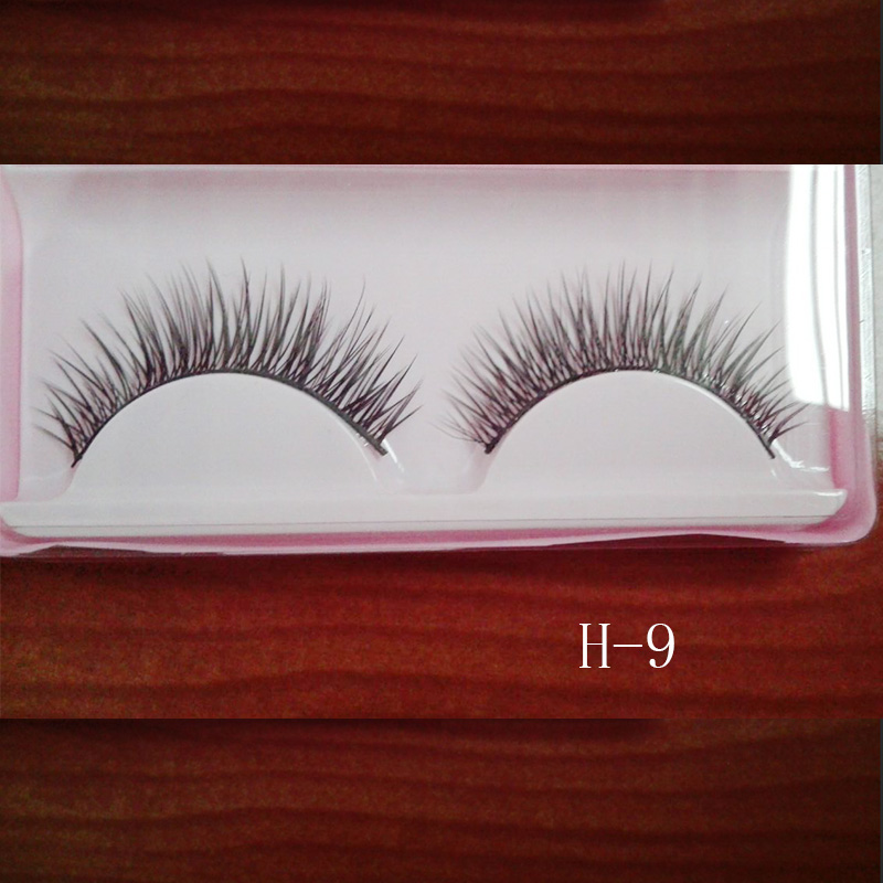 1Pairs Natural Long Crossed False Eyelashes Makeup Handmade Thick Fake Eye Lashes Extension Makeup Beauty Tools H9