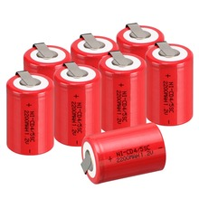 8 Pieces Anmas Power 1.2V 4/5 SC Sub C 2200mAh Ni-CD nicd Rechargeable Batteries Different Color