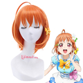 L-email LoveLive!Sunshine!! Takami Chika Cosplay Wigs Orange Synthetic Hairs