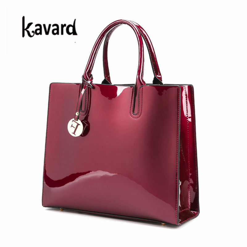 luxury designer Red Patent Leather Tote Bag Handbags Women Famous Brand  Lady s Lacquered Handbag bags for Women Shoulder Bag Sac-in Shoulder Bags  from ... d33e92d138