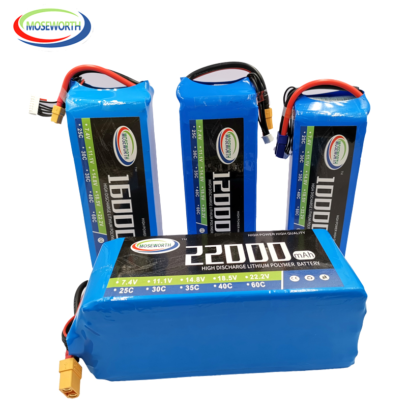 <font><b>6S</b></font> 22.2V <font><b>22000mAh</b></font> 25C RC <font><b>LiPo</b></font> Battery <font><b>6S</b></font> For RC Airplane Drone Quadrotor Car Rechargeable Batteries <font><b>LiPo</b></font> <font><b>22000mAh</b></font> AKKU image