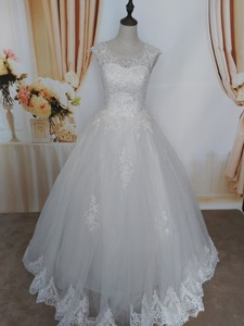 Image 4 - Robe de mariée pour mariées blanche avec paillettes en cristal, robe de mariée pour mariées, grande taille, avec bord en dentelle, ZJ9128, nouvelle collection 2019