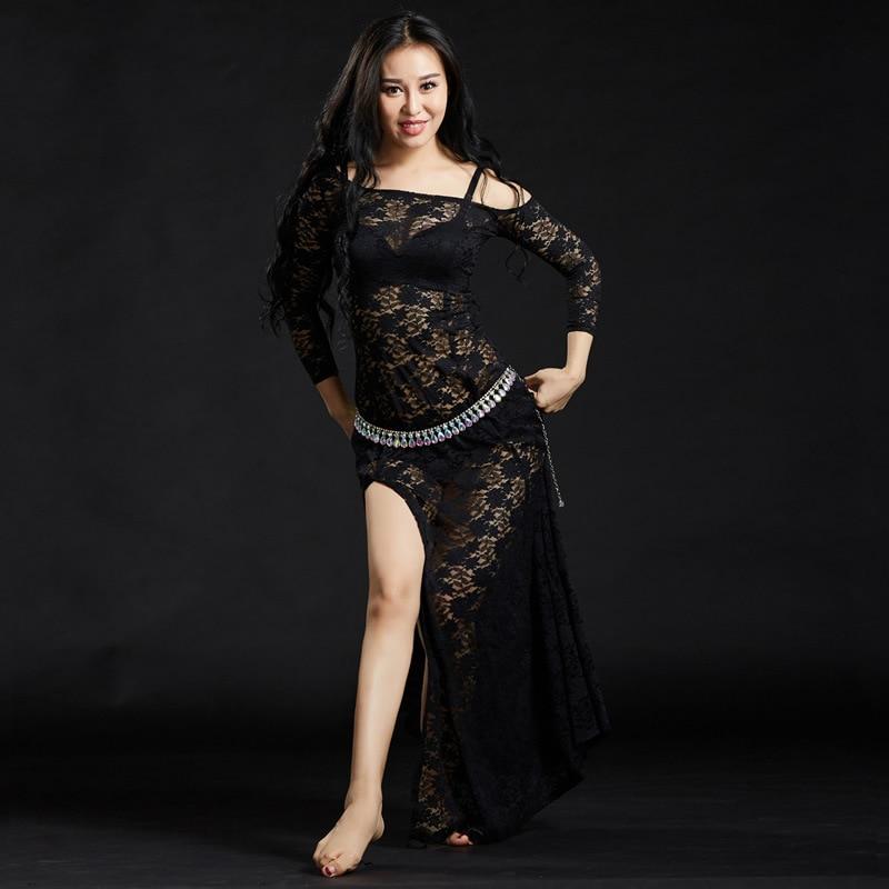 Image 3 - Женские кружевные платья с шортами, длинные платья для танца животаТанец живота    АлиЭкспресс