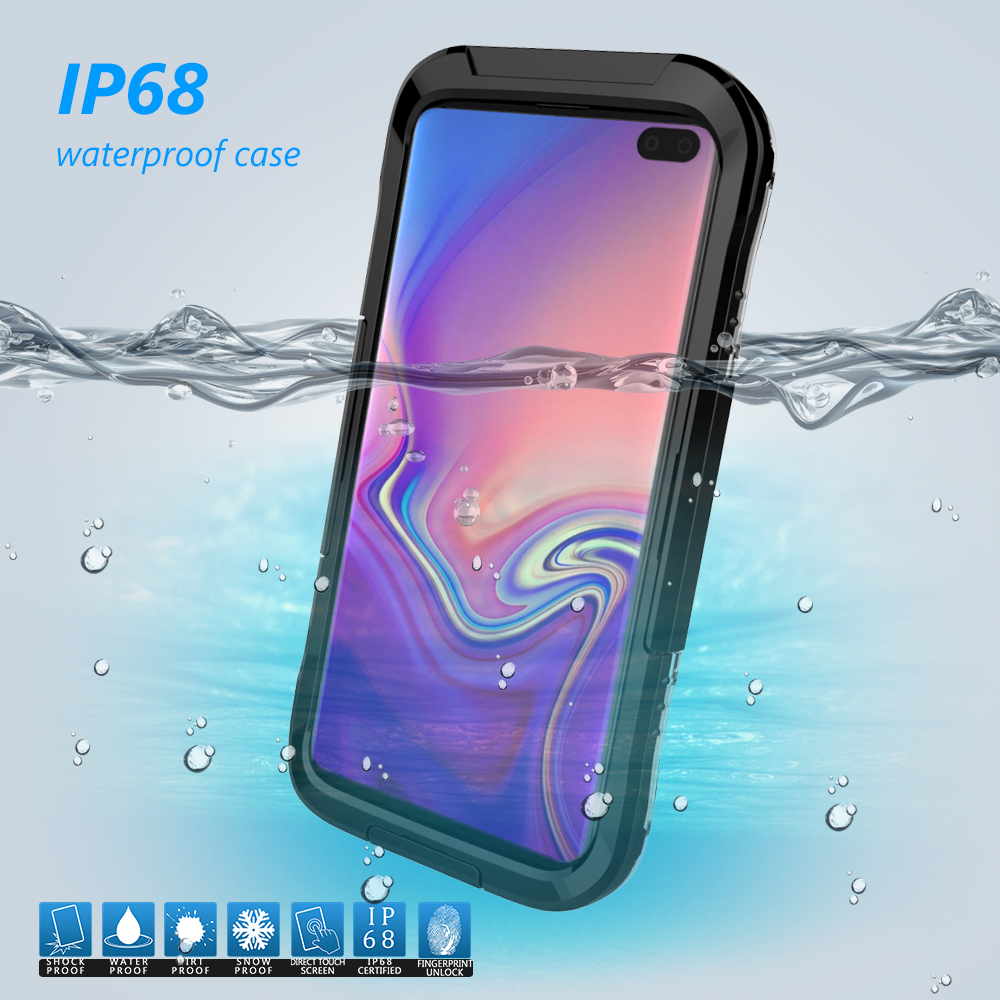 Full Body with Built-in Screen Protector Magnetic Clear Double-Sided Tempered Glass Cover with a Screen Cleaning Paper LANYOS Compatible OnePlus 7 Pro Case Blue