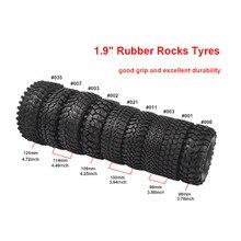 RCAIDONG 4PCS 1.9 Rubber Rocks Tyres / Wheel Tires for Axial SCX10 90046 90047 TRX4 Tamiya CC01 D90 D110 1:10 RC Rock Crawler 4pcs 110mm 1 9 rc 1 10 rubber tyres tires for 1 10 rc rock crawler wheels scx10 d90 d110
