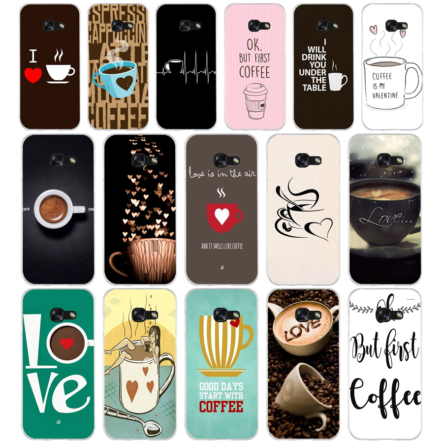 178A Ok But First Coffee Funny style Soft Silicone Tpu Cover phone Case for Samsung galaxy a3 a5 2016  2017 a6 A8 2018
