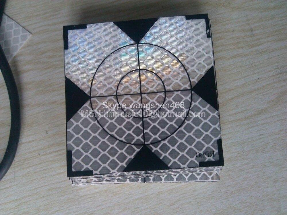 100pcs Reflector Sheet40 x 40 mm Reflective target total station цена